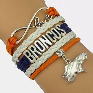 Jewelry - Love NFL Denver Broncos adjustable bracelet